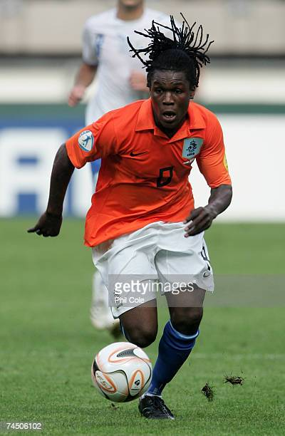 Royston Drenthe of the Netherlands during the UEFA European Under-21 Championships match between Netherlands and Israel at the Abe Lenstra on June...