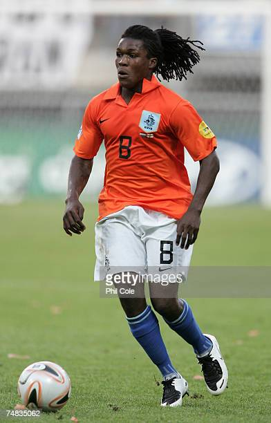 Royston Drenthe of the Netherlands in action during the UEFA European Under-21 Championship semi-final match between the Netherlands U21 and England...