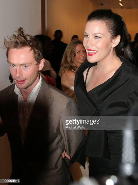 Royston Langdon and Liv Tyler during 7th Annual Free Arts NYC Art + Photography Benefit Auction at Phillips de Pury & Company in New York, New York,...