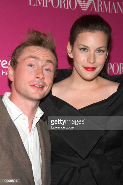 Royston Langdon and Liv Tyler during Free Arts NYC's 7th Annual Art + Photography Auction Benefit at Phillips de Pury & Company in New York City, New...