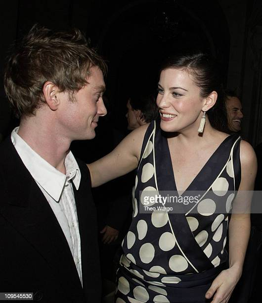 "Royston Langdon and Liv Tyler during ""The Lord of The Rings: The Two Towers"" Premiere - After-Party at New York Public Library in New York City, New..."