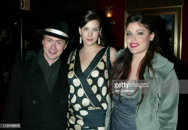 """Royston Langdon, Liv Tyler & Mia Tyler during """"The Lord of The Rings: The Two Towers"""" Premiere - New York at Ziegfeld Theatre in New York City, New..."""