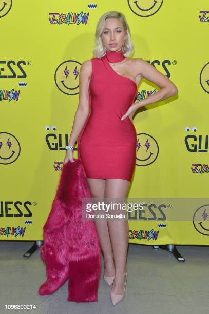 Roz attends GUESS x J Balvin launch party on February 8 2019 in Los Angeles California