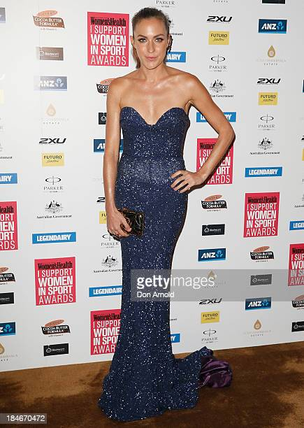 Roz Kelly arrives at the 'I Support Women In Sport' awards at The Ivy Ballroom on October 15 2013 in Sydney Australia
