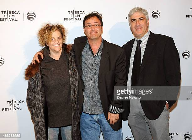 Roz Lichter Robert Marianetti and David Wachtenheim attend the Shorts Program City Limits during the 2014 Tribeca Film Festival at AMC Loews Village...