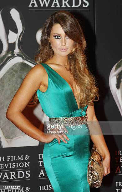 Roz Purcell arrives at Annual Irish Film Television Awards at Convention Centre Dublin on February 11 2012 in Dublin Ireland
