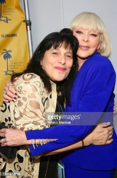 Roz Wolf and Actress Sybil Danning attend the LA Jewish Film Festival Opening Night Gala at Ahrya Fine Arts Theater on May 02 2019 in Beverly Hills...