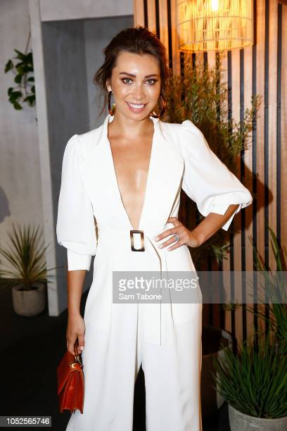 Rozalia Russian attends 2018 Caulfield Cup Day at Caulfield Racecourse on October 20 2018 in Melbourne Australia