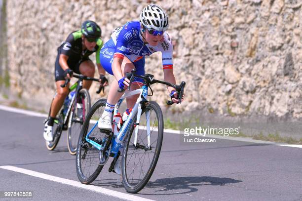 Rozanne Slik of The Netherlands and Team FDJ Nouvelle Aquitaine Futuroscope / during the 29th Tour of Italy 2018 Women Stage 8 a 1262km stage from...