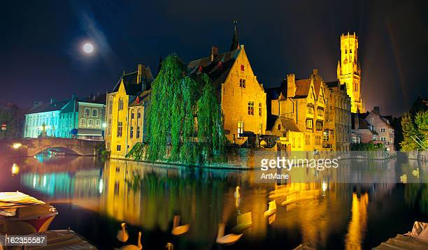 rozenhoedkaai, bruges - traditionally belgian stock pictures, royalty-free photos & images