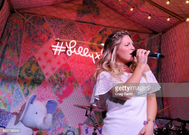 Rozes performs at the Launch Celebration of the Pottery Barn Pottery Barn Kids PBteen and Lilly Pulitzer Exclusive Collection on March 15 2018 in New...