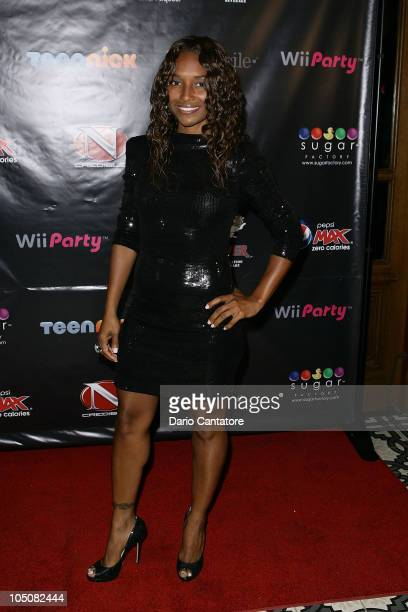 Rozonda Chilli Thomas attends Nick Cannon's 30th birthday bash hosted by Mariah Carey at Lavo on October 8 2010 in New York City