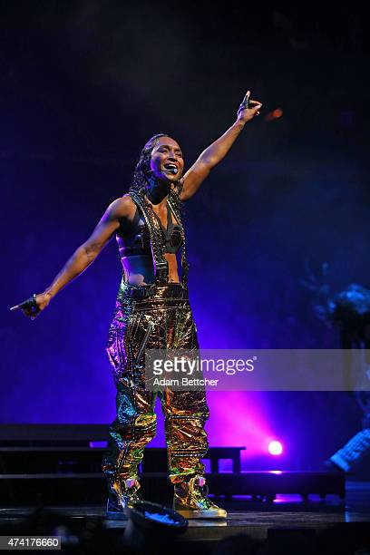 Rozonda 'Chilli' Thomas from the band TLC performs at the Xcel Energy Center on May 20 2015 in St Paul Minnesota