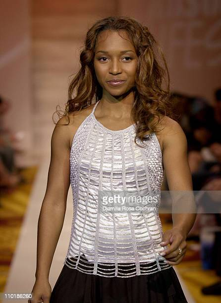 Rozonda Chilli Thomas of TLC during MercedesBenz Fashion Week Spring 2004 Absolut Lifestyle and Honey Magazine present Dollhouse Footwear Runway at...