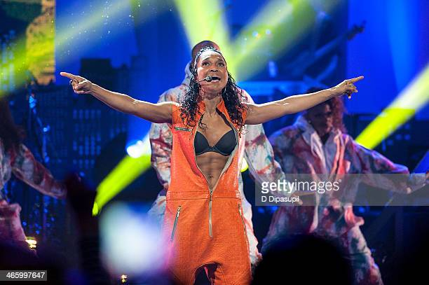 Rozonda 'Chilli' Thomas of TLC performs during VH1's 'Super Bowl Blitz Six Nights Six Concerts' at the Beacon Theatre on January 30 2014 in New York...