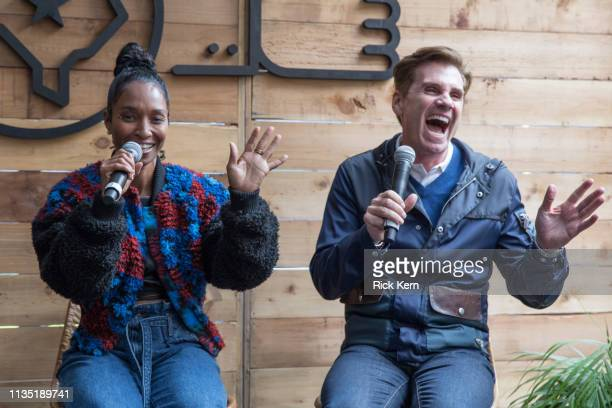 """Rozonda """"Chilli"""" Thomas SingerSongwriter TLC and Bill Diggins Founder and CEO of Diggit Entertainment attend the Fast Company Grill on March 11 2019..."""