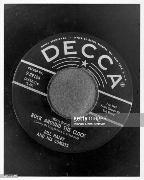 45 rpm single of 'Rock around the Clock' by Bill Haley His Comets
