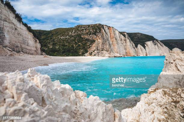 rremote beach in greece - greece stock pictures, royalty-free photos & images
