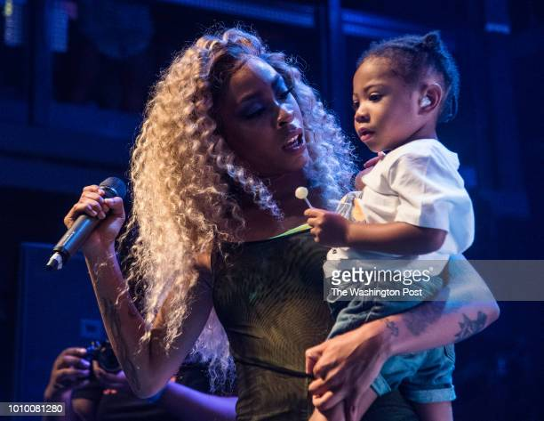RRico Nasty on stage with her son Tuesday evening at the Fillmore Silver Spring