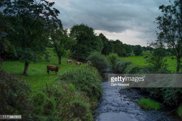 Rsmall river forms the border between Northern Ireland and Ireland on August 29, 2019 near Donegal, Ireland. The 310m/500 km border runs through...