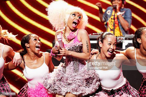 RSnger Nicki Minaj performs onstage at the iHeartRadio Music Festival held at the MGM Grand Garden Arena on September 24, 2011 in Las Vegas, Nevada.