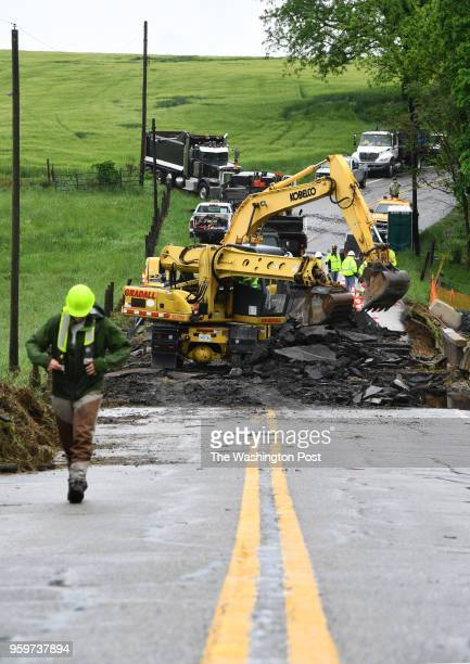 Rt 180 between Rt 17 and Rt 79 will remain closed as workers repair the roadway that was washed away by Little Catoctin Creek during flash floods...