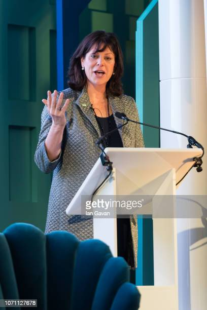 Rt Hon Claire Perry MP Minister for for Energy and Clean Growth UK Government speaks on stage during the Transformers Summit on December 10 2018 in...