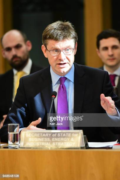 Rt Hon Greg Clark MP Secretary of State for Business Energy and Industrial Strategy in the UK Government gives evidence to the Scottish Parliament's...