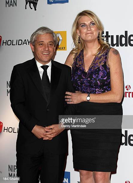 Rt Hon John Bercow and Sally Bercow attends the Attitude Magazine awards at Royal Courts of Justice Strand on October 15 2013 in London England