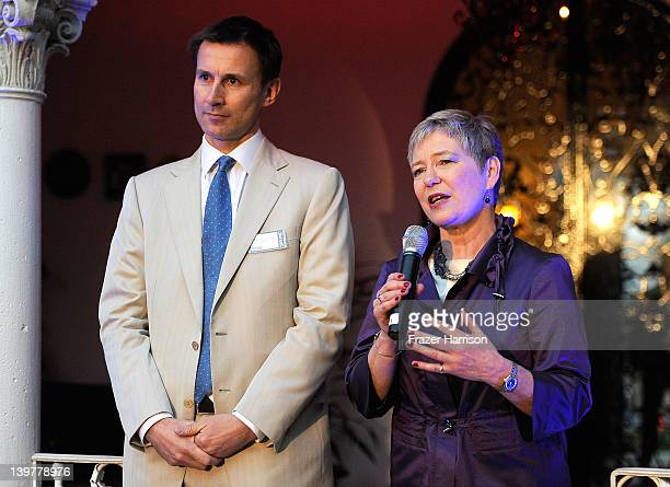 Rt Hon Secretary of State for Culture Olympics Media and Sport Jeremy Hunt and ConsulGeneral Dame Barbara Hay speak at the GREAT British Film...