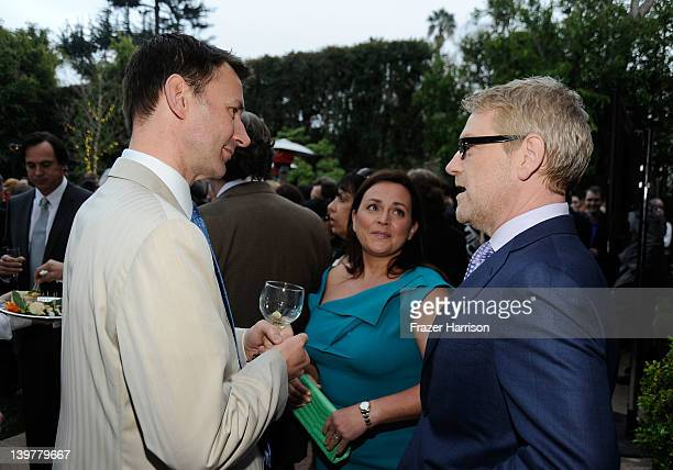 Rt Hon Secretary of State for Culture, Olympics, Media and Sport Jeremy Hunt, Lindsay Brunnock and actor Kenneth Branagh attend the GREAT British...
