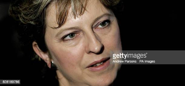 Rt Hon Theresa May MP Shadow Secretary of State for the Family and for Culture Media Sport during a Television interview at the Imperial...