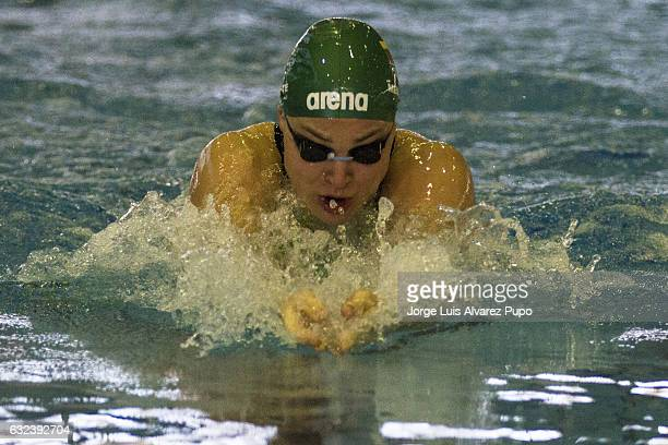 Rta Meilutyt of Lithuania competes in the Women's 50m Breastroke series on day two of the 15th Flanders Speedo Cup at the Olympic swimming Centre on...