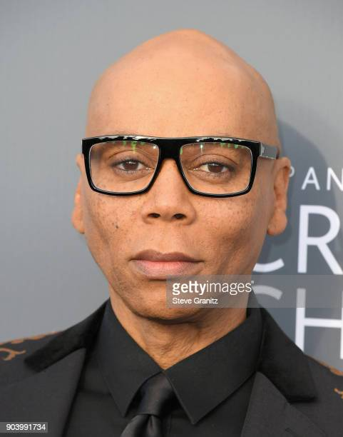 Ru Paul attends The 23rd Annual Critics' Choice Awards at Barker Hangar on January 11 2018 in Santa Monica California