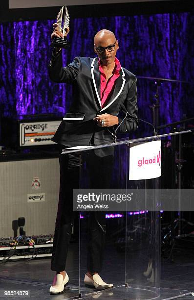 Ru Paul onstage at the 21st Annual GLAAD Media Awards held at Hyatt Regency Century Plaza on April 17 2010 in Century City California