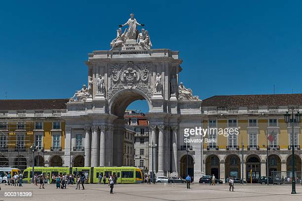 Rua Augusta Arch, Downtown Lisbon, seen from Commerce Square.