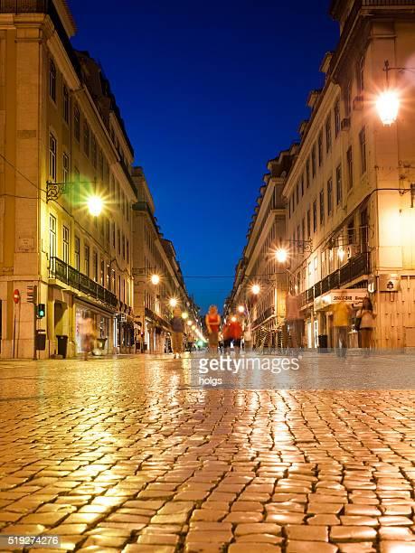 rua de são juliao in lissabon, portugal - rua stock-fotos und bilder