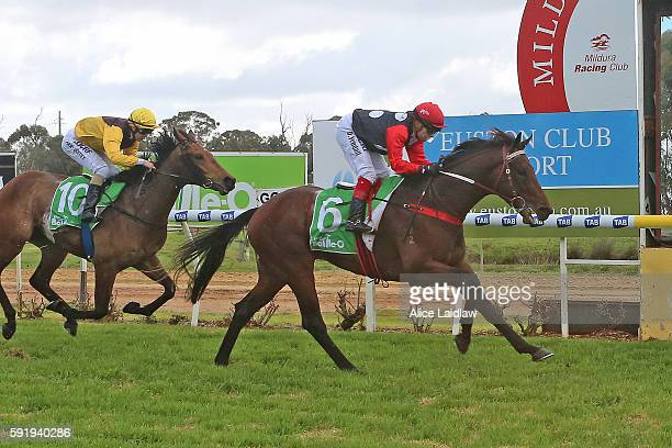 Rua Kanapu ridden by Dean Yendall wins Mildura Membershipâs Available Maiden Plate at Mildura Racecourse on August 19, 2016 in Mildura, Australia.