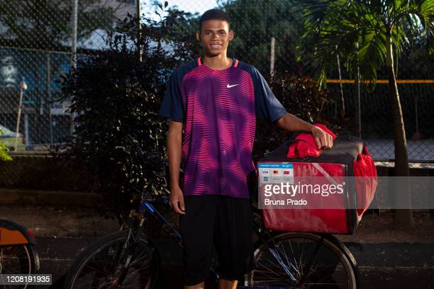 Ruan Augusto 19 years old resident of Morro do Encontro in the Lins de Vasconcelos neighborhood poses for a portrait on March 24 2020 in Rio de...