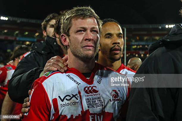 Ruan Combrinck of the Lions stands dejected after losing the 2016 Super Rugby Final match between the Hurricanes and the Lions at Westpac Stadium on...