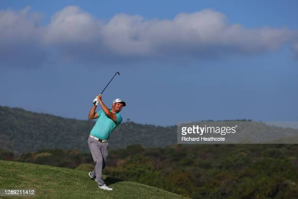 Ruan Korb of South Africa plays his approach shot on the eighth hole during Day One of the South African Open at Gary Player CC on December 03, 2020...