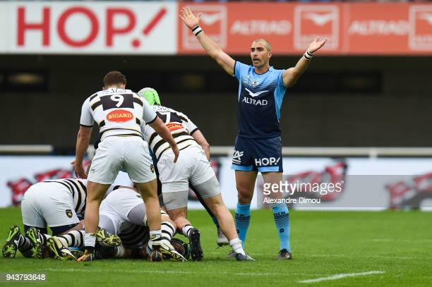 Ruan Pienaar of Montpellier during the French Top 14 match between Montpellier and La Rochelle at Altrad Stadium on April 8 2018 in Montpellier France