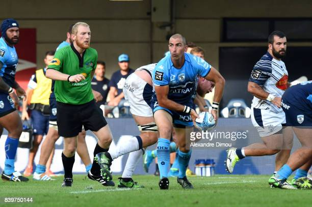Ruan Pienaar of Montpellier during the Top 14 match between Montpellier and SU Agen at on August 26 2017 in Montpellier France