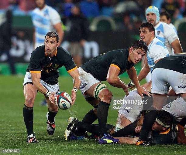 Ruan Pienaar of South Africa during The Castle Rugby Championship match between South Africa and Argentina at Loftus Versfeld on August 16, 2014 in...