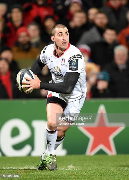Ruan Pienaar of Ulster during the European Champions Cup Pool 1 rugby game at Kingspan Stadium on December 11 2015 in Belfast Northern Ireland