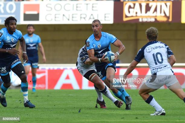 Ruan Piennar of Montpellier during the Top 14 match between Montpellier and SU Agen at on August 26 2017 in Montpellier France