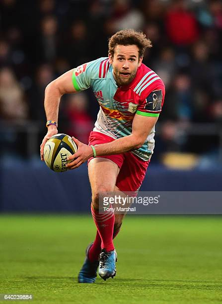Ruaridh Jackson of Harlequins during the AngloWelsh Cup match between Worcester Warriors and Harlequins at Sixways Stadium on January 28 2017 in...
