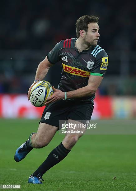 Ruaridh Jackson of Harlequins in action during the Aviva Premiership match between Harlequins and Gloucester Rugby at Twickenham Stadium on December...