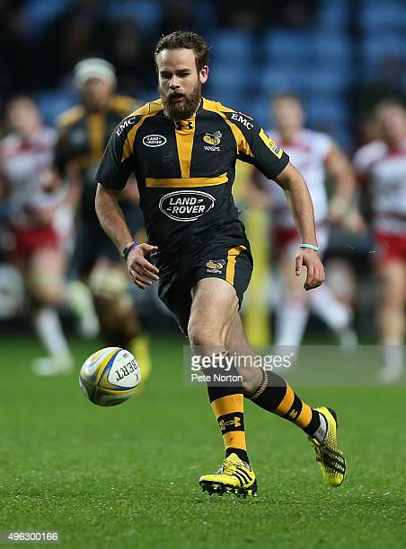 Ruaridh Jackson of Wasps in action during the Aviva Premiership match between Wasps and Gloucester at The Ricoh Arena on November 8 2015 in Coventry...