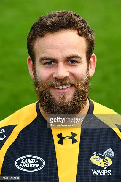 Ruaridh Jackson of Wasps poses for a portrait during a Wasps Media Session at Twyford Avenue Sports Ground on October 20 2015 in Acton England